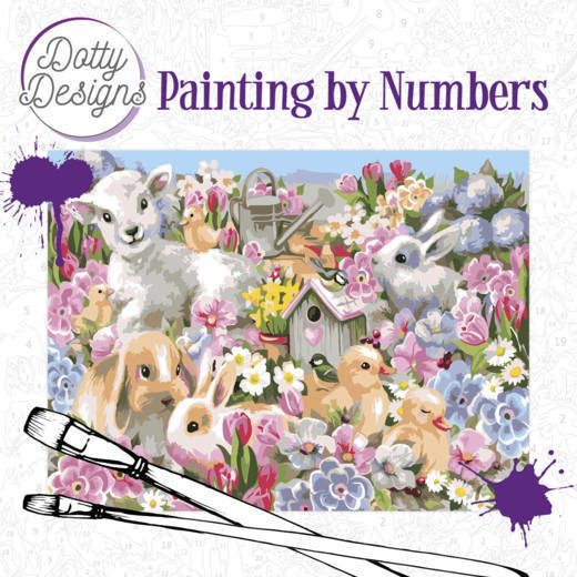 Dotty Design Painting by Numbers - Baby Animals