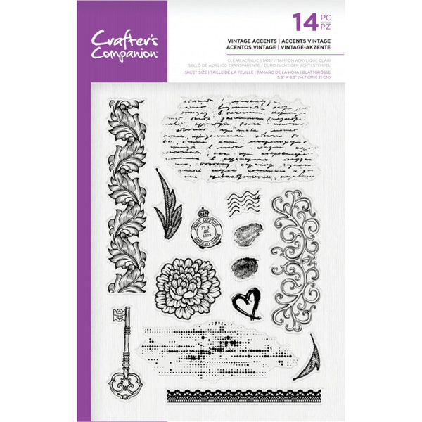 Crafter's Companion Clearstamp - Vintage Accents