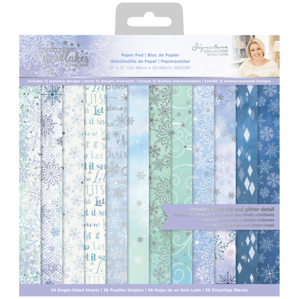 Glittering Snowflakes 12x12 Inch Paper Pad