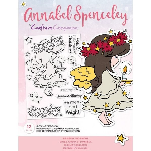 Annabel Spenceley Clearstamp - Be Merry and Bright