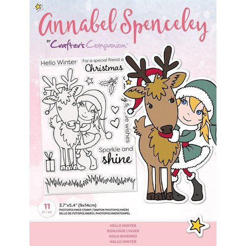 Crafter's Companion Annabel Spenceley Hello Winter Clear Stamps