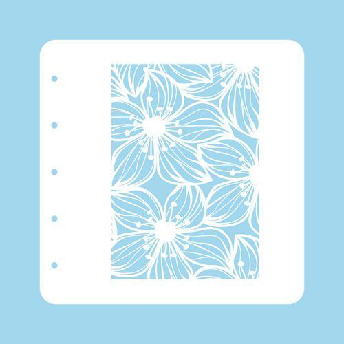 Nellie's Choice Stencil voor Magnetic colour set Flower-2