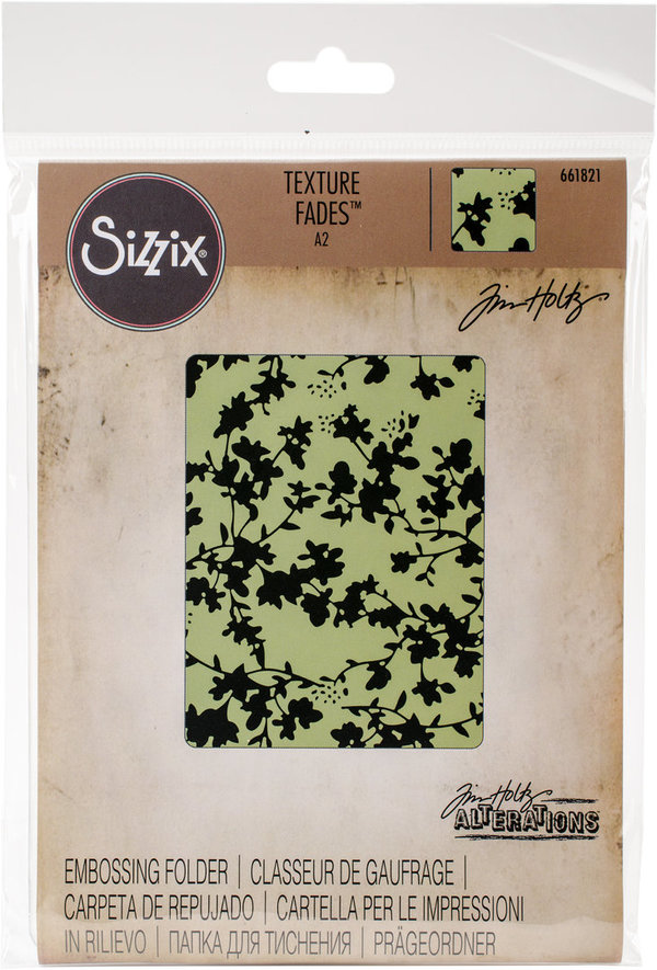 Floral Texture Fades Embossing Folder