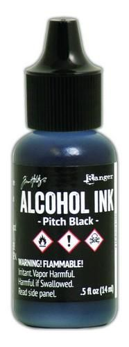 Ranger Alcohol Ink 15 ml - pitch black  Tim Holz