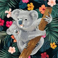 Crystal Art Kit ® Koala Baby 18x18 (partial)