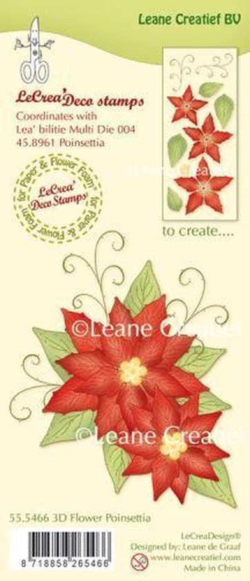 LeCreaDesign® clear stamp 3D Flower Poinsettia