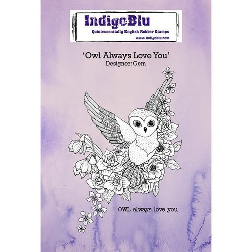 IndigoBlu Owl Always Love You A6 Rubber Stamp