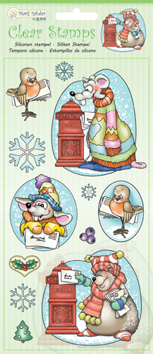 MRJ Clear Stamps Winter animals