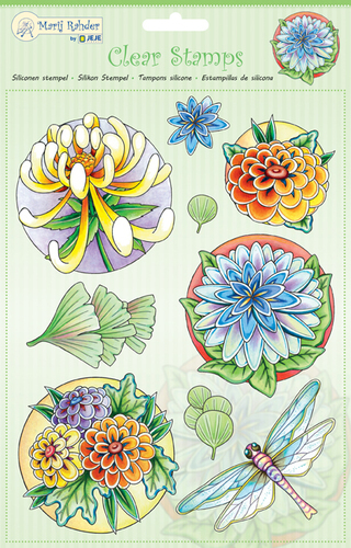 MRJ Clear Stamps Flowers