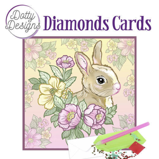 Dotty Designs Diamond Cards - Rabbit