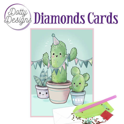 Dotty Designs Diamond Cards - Cactus