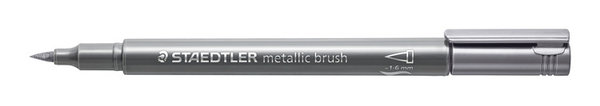 metallic brush zilver