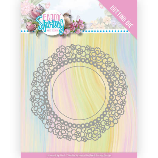 Dies - Amy Design - Enjoy Spring - Flower Circle