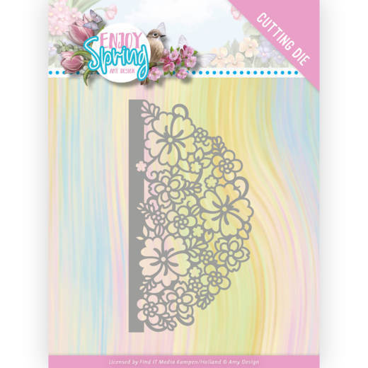 Dies - Amy Design - Enjoy Spring - Half Flower Circle
