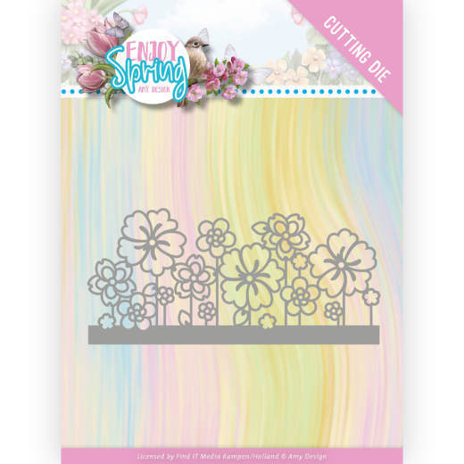 Dies - Amy Design - Enjoy Spring - Flower Border