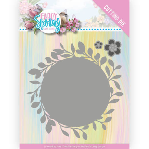 Dies - Amy Design - Enjoy Spring - Leaf Circle